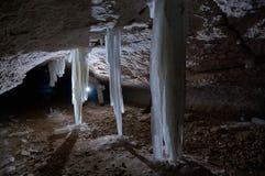 Σταλακτίτες πάγου Στοκ Εικόνες