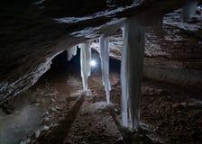 Σταλακτίτες πάγου Στοκ Φωτογραφία