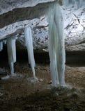 Σταλακτίτες πάγου Στοκ φωτογραφία με δικαίωμα ελεύθερης χρήσης