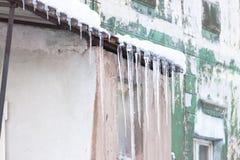 Σταλακτίτες στο σπίτι Στοκ φωτογραφία με δικαίωμα ελεύθερης χρήσης