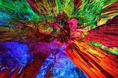 Σταλακτίτες των σπηλιών φλαούτων καλάμων σε Guilin, Κίνα Στοκ φωτογραφίες με δικαίωμα ελεύθερης χρήσης