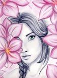 Στα λουλούδια Στοκ Εικόνα