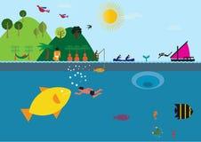 Στα μεγάλα θαλάσσια βάθη Στοκ Εικόνα