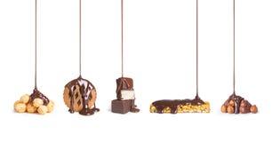 Στα μπισκότα, σοκολάτα, στοκ φωτογραφίες