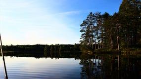 Στα νερά σε μια αλιεία βαρκών Στοκ Φωτογραφίες