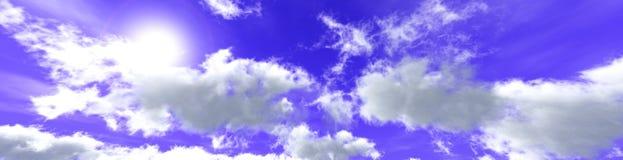 Στα σύννεφα, ανατολή στα σύννεφα διανυσματική απεικόνιση