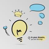 Στα όνειρά σας, είστε ο βασιλιάς! Στοκ εικόνες με δικαίωμα ελεύθερης χρήσης