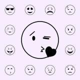 στείλετε ένα εικονίδιο φιλιών r διανυσματική απεικόνιση