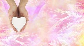 Στείλετε ένα μήνυμα της αγάπης Στοκ Εικόνες