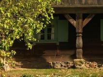 στεγάστε παλαιό ξύλινο Στοκ Εικόνες