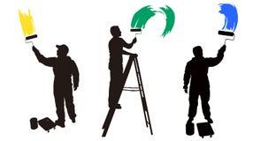 στεγάστε το ζωγράφο στοκ εικόνες με δικαίωμα ελεύθερης χρήσης