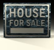 στεγάστε το σημάδι πώληση&si Στοκ Εικόνα