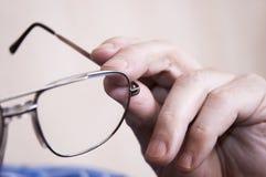 στενά γυαλιά ματιών επάνω Στοκ Εικόνες
