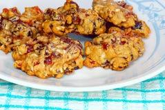 στενά μπισκότα fruitcake επάνω Στοκ Εικόνες