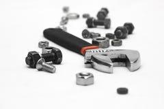 στενά παλαιά σκουριασμένα γρατσουνισμένα εργαλεία χεριών επάνω Στοκ φωτογραφίες με δικαίωμα ελεύθερης χρήσης