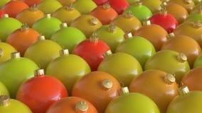Στενά συσκευασμένη σειρά στρογγυλών διακοσμήσεων στα θερμά χρώματα Στοκ Εικόνες