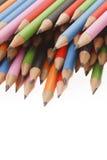 στενά χρωματισμένα σκοτεινά από γραφίτη μολύβια ανασκόπησης επάνω Στοκ Εικόνες