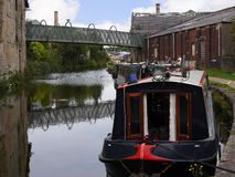 Στενές βάρκες καναλιών στον εορτασμό 200 ετών του καναλιού του Λιντς Λίβερπουλ σε Burnley Lancashire Στοκ Εικόνα