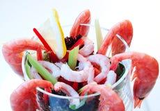 στενές γαρίδες κοκτέιλ επάνω Στοκ Εικόνα