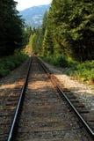 στενές διαδρομές σιδηροδρόμου γραμμών ημέρας δύο επάνω Στοκ εικόνα με δικαίωμα ελεύθερης χρήσης