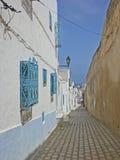 στενές οδοί suss Τυνησία σπιτ&i Στοκ Φωτογραφία