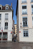 Στενές οδοί στη Λυών, Γαλλία Στοκ Εικόνες