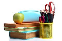 στενές σχολικές προμήθειες μοιρογνωμόνιων πυξίδων επάνω Στοκ Εικόνες
