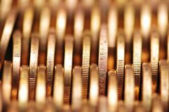 στενές χρυσές σειρές νομ&iota Στοκ Φωτογραφία