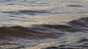 Στενή άποψη της επιφάνειας της θάλασσας με τα κύματα απόθεμα βίντεο