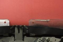 στενή γραφομηχανή επάνω Στοκ Εικόνα