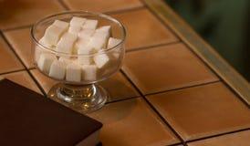 Στενή εικόνα των κύβων ζάχαρης Στοκ Εικόνες