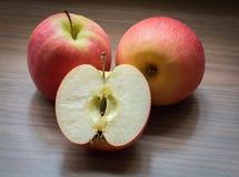 Στενή επάνω μακροεντολή της Apple Στοκ Φωτογραφίες