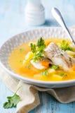 στενή καλυμμένη ψάρια σούπα επάνω στοκ εικόνα με δικαίωμα ελεύθερης χρήσης
