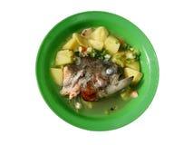 στενή καλυμμένη ψάρια σούπα επάνω Στοκ Εικόνα