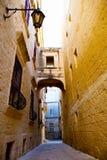 στενή οδός mdina της Μάλτας Στοκ Φωτογραφίες