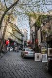 Στενή οδός αγορών Στοκ Εικόνες