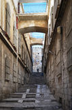 Στενή οδός στην παλαιά πόλη της Ιερουσαλήμ, Ισραήλ Στοκ Εικόνες