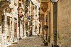 Στενή οδός στη Μάλτα Στοκ εικόνες με δικαίωμα ελεύθερης χρήσης