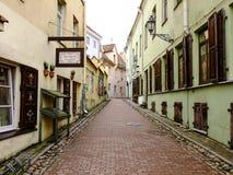 Στενή οδός Oldtown στοκ φωτογραφία
