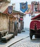 στενή παλαιά Ρήγα πόλεων οδός της Λετονίας Στοκ φωτογραφία με δικαίωμα ελεύθερης χρήσης