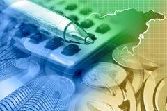 στενή πιστωτική οικονομική επάνω όψη καρτών ανασκόπησης Στοκ Φωτογραφίες