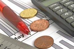 στενή πιστωτική οικονομική επάνω όψη καρτών ανασκόπησης Στοκ Εικόνες