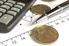 στενή πιστωτική οικονομική επάνω όψη καρτών ανασκόπησης Στοκ Φωτογραφία