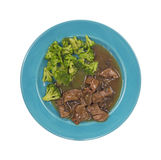 στενή πλευρά πιάτων μπρόκολου βόειου κρέατος Στοκ Εικόνες