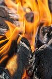 στενή πυρκαγιά επάνω Στοκ Φωτογραφία