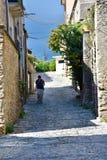 Στενή στενωπός στην παλαιά πόλη Gerace στοκ εικόνα με δικαίωμα ελεύθερης χρήσης