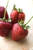 στενή φρέσκια φράουλα επάνω Στοκ εικόνες με δικαίωμα ελεύθερης χρήσης
