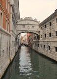 στεναγμοί Βενετία γεφυρών Στοκ Εικόνες