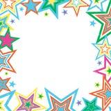 στενοχωρημένα σύνορα αστέρια Στοκ Εικόνα