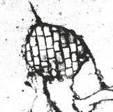 Στενοχωρημένη σύσταση επικαλύψεων του μετάλλου σκόνης, ραγισμένο ξεφλουδισμένο σκυρόδεμα Στοκ φωτογραφία με δικαίωμα ελεύθερης χρήσης
